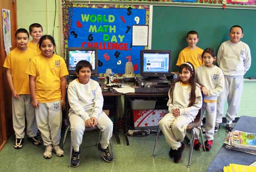 Fourth graders from Assumption Catholic  School in Perth Amboy recently participated in the World Math Day challenge