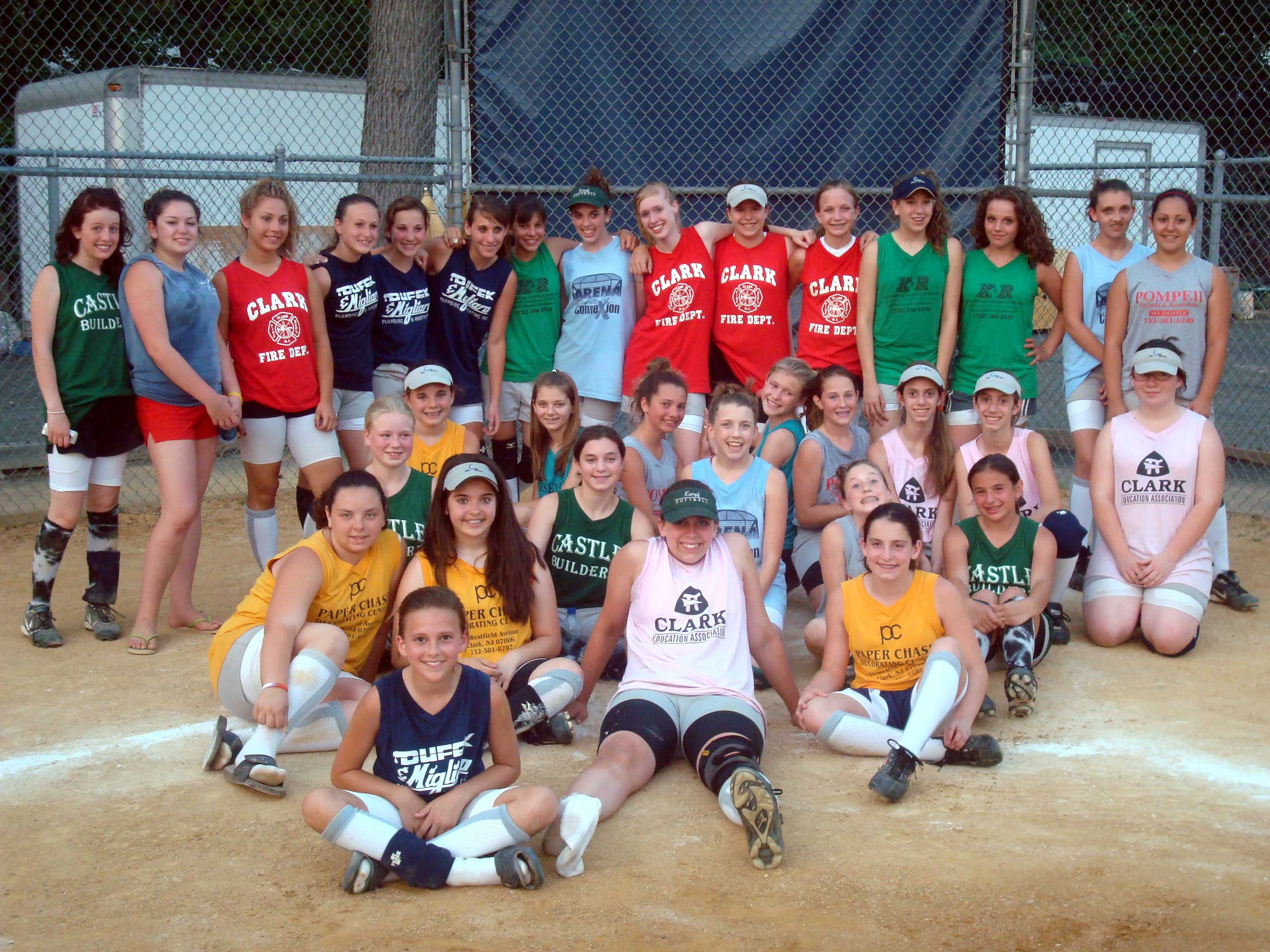 Girls Softball Cake Ca... Girls Softball