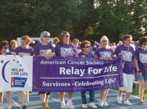 Cancer survivors take part in the opening ceremonies of last year's Union County Relay for Life event. (File photo courtesy of the American Cancer Society)